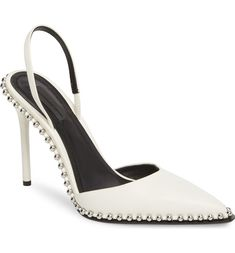 Rina Beaded Pump, Main, color, White
