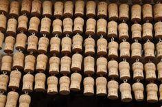 Homemade Wine Cork Curtain.