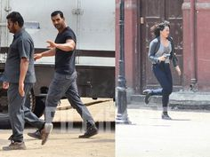 Abhinay Deos Force 2 has gone on floors and we spotted the lead pair of Sonakshi Sinha and John Abraham busy shooting in the city. Sonakshi was seen getting into a full-on action mode as she shot an intense chase scene while John was spotted with the crew members as he prepared for his scene. This is just the beginning of the hardcore action scenes the duo will be performing for the much anticipated sequel and it will be interesting to see them together for the very first time. by #Filmfare…