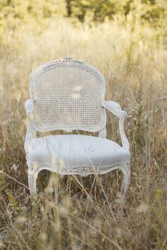 chair in a field...