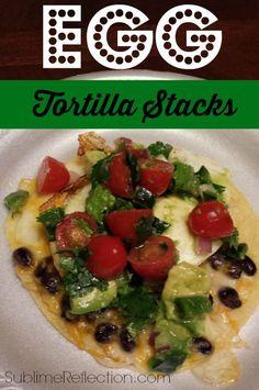 Clean Eating Egg Tortilla Stacks & Avocado Lime Salsa  http://sublimereflection.com
