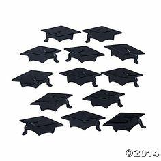 Black Graduation Hat Confetti