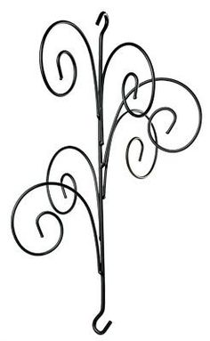Ornament Globe Orb 6 Ball Wrought Iron Shepherd Hook Small Wall Hanger by Kitras Art Glass Tree Jewelry Holder, Modern Wall Hooks, Diy Chandelier, Iron Work, Wire Crafts, Stained Glass Art, Glass Ball, Creative Decor, Glass Collection