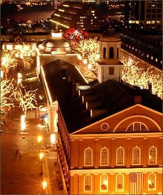 What's better than a walk through Faneuil Hall all lit up - love this time of year in the city!