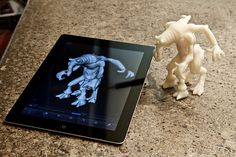 Autodesk 123D Creature 3D Character Design App lets you send your iPad designs to a 3D printer!