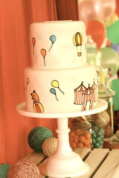 Vintage Circus Party Cake #vintagecircus #cake