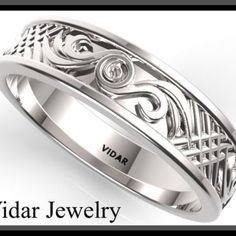 mens wedding bands leaves - Google Search