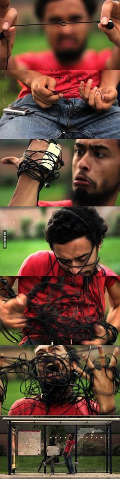 This is why I hate earphones
