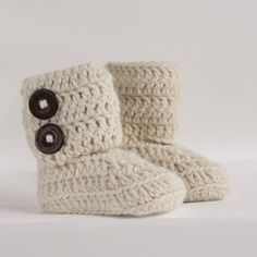 Cream Infant Crochet Wrap Boots Choose Your Size by babybuttercup, $25.00