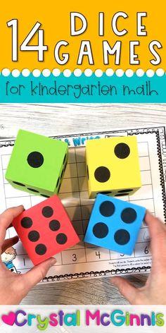 14 Dice Games for Kindergarten
