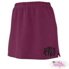Monogrammed Errand Skirt in 11 colors and great over leggings  Apparel & Accessories > Clothing > Activewear > Active Skirts