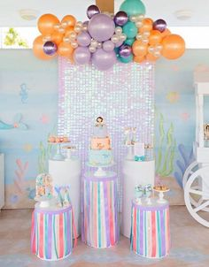 Kara's Party Ideas Salty Air + Mermaid Vibes Birthday Party | Kara's Party Ideas