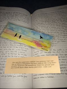Original hand-painted watercolor bookmark with by WatercolorWord