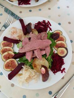 Syn free warm duck breast salad