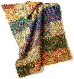 Interesting Knit Stitch Afghan pattern