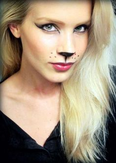 Halloween Makeup : DIY Halloween Costumes That Are Genuinely Cute (and Worth the Effort) Zebra Makeup, Lion Makeup, Makeup Fx, Makeup Ideas, Kitty Makeup, Makeup 2018, Nose Makeup, Animal Makeup, Skull Makeup