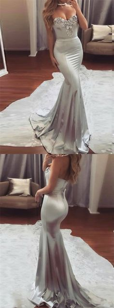 mermaid prom dresses,silver prom dresses,beaded prom dresses,long prom dresses