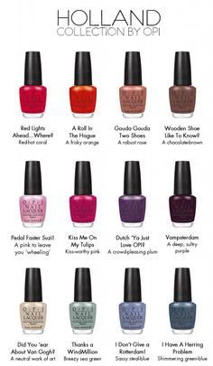 OPI Holland, Funny to the top! Opi Nail Polish Colors, Opi Colors, Opi Polish, Colours, Joy Nails, Fingernails Painted, Opi Collections, Pretty Nail Colors, Nail Colour
