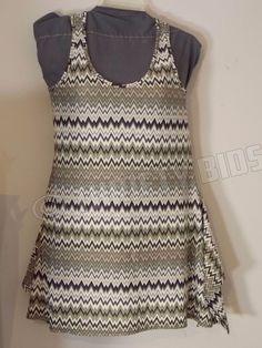 Jon Den Chevron Pattern Fit and Flare Sundress Dress Sleeveless Womens S Small #JonDen #SundressFitandFlare #Casual
