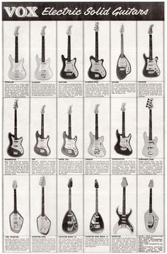 Part of the Vox guitar and bass range of 1964