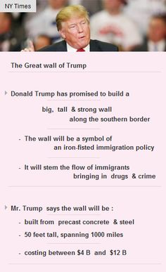 The #GreatWall of #Trump will be a symbol of his iron-fisted #immigration policy #fund #vc http://arzillion.com/S/dgkoGX