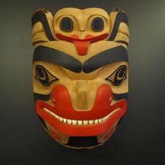 Haida Bear and Frog Mask - Lyle Campbell (Haida Gwaii, BC)