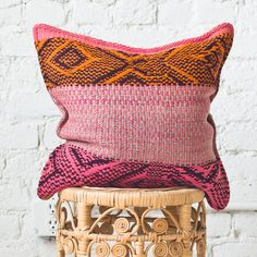 Frazadas are beautiful pieces of textiles handwoven by the local artisans of the central Andes. Frazadas take about a month to complete. They are made with sheep's wool coloured with natural dy...