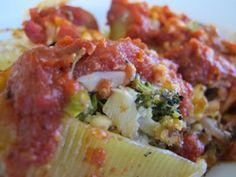 Vegan Caramelized Broccoli Stuffed Shells  http://www.vegancoach.com/vegan-entree.html#anchor-baked-ziti