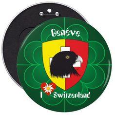 Genf / Genève Schweiz Suisse Svizzera Buttons