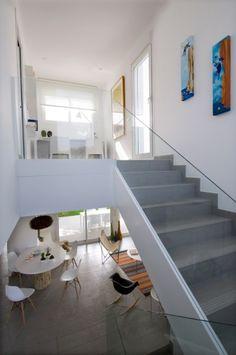 upstairs area white interior design home plan