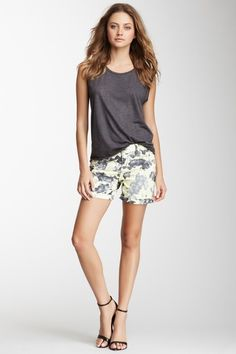 Floral Sunrise Print Short by DKNY Jeans