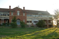 """""""St. John's Orphanage"""" -- [also known as the """"Goulburn Boys Orphanage"""" 52-56 Mundy Street Goulburn, New South Wales, Australia. It housed only males. The orphanage was opened in 1912 & closed in 1975. It was the first orphanage to be built in Goulburn. From 1905 to 1912 it did house both males & females until the St. Joseph's House of Prayer was opened for the girls.]~[Photograph by frontdrive34 (Darren) - February 20 2010]'h4d-236.2013"""