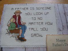 cross stitch Father's day