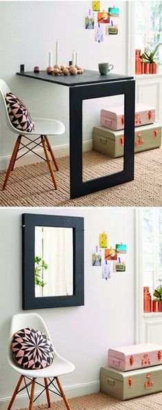 How to Make Mirror Folding Table - DIY Crafts                                                                                                                                                      More