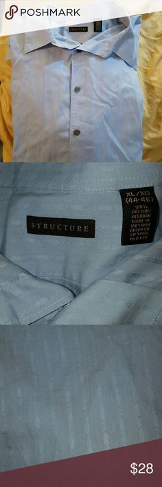 ?? NWOT Structure Men's Dress Shirt NWOT Structure men's dress shirt. Light blue with design over entire shirt. Only visible up close as seen in third photo. Structure  Shirts Dress Shirts