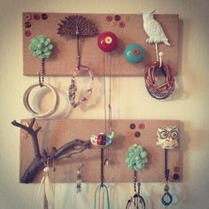So proud of my homemade jewelry holder :)