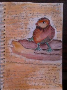 Art journal page #bird #art #journal_bird https://www.facebook.com/creativeMAG.ro  http://creativemag.ro