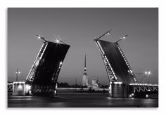 Another new creation ready to hang    http://thousandface.myshopify.com/products/palace-bridge-canvas-st-peterberg-b-w-landscape-wall-art-picture-home-decor?utm_campaign=social_autopilot&utm_source=pin&utm_medium=pin