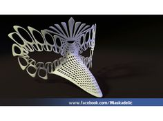 Party Mask 'NeverMore' 3d printed Art Fashion NeverMore