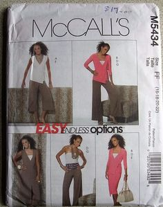 McCall s sewing pattern no M 5434 Ladies suit with slacks size 16-18-20-22 5c7353dc17