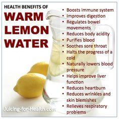 Warm lemon water in the morning!