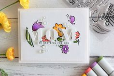 Little Crafty Pill: Clean and Simple Mom's Card #mothersday #simplecards