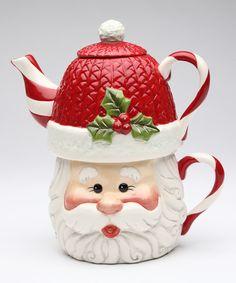 Look at this Santa Tea-for-One Teapot