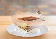 Tiramisù léger au fromage blanc sans gluten