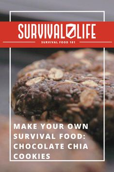 In an emergency situation, your supply of survival food could be the difference between life and death. Make sure you're prepared by keeping a batch of these chocolate chia cookies in your bug out bag. #SurvivalLife #Survival #SurvivalFood #DIY