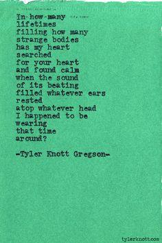 Typewriter Series #452by Tyler Knott Gregson