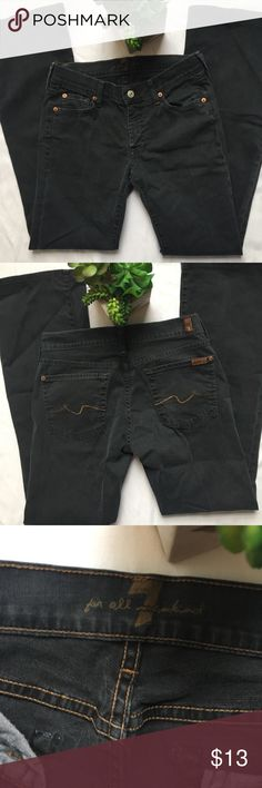 "7 For All Mankind Women's  Jeans Sz 27 7 For All Mankind Women's Bootcut / Flare Casual Dark Denim Jeans Sz 27 Waist 14"" Length 40"" Inseam 31"" 7 For All Mankind Jeans Flare & Wide Leg"