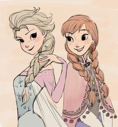 Elsa & Ana - Frozen