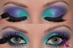 Znalezione obrazy dla zapytania fioletowy makijaż