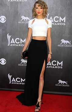 amazing cut-out bateau neckline high thigh slit two piece dress inspired by Taylor Swift                                                                                                                                                     More